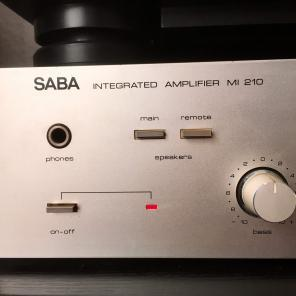 SABA Integrated Amplifier MI 210 1