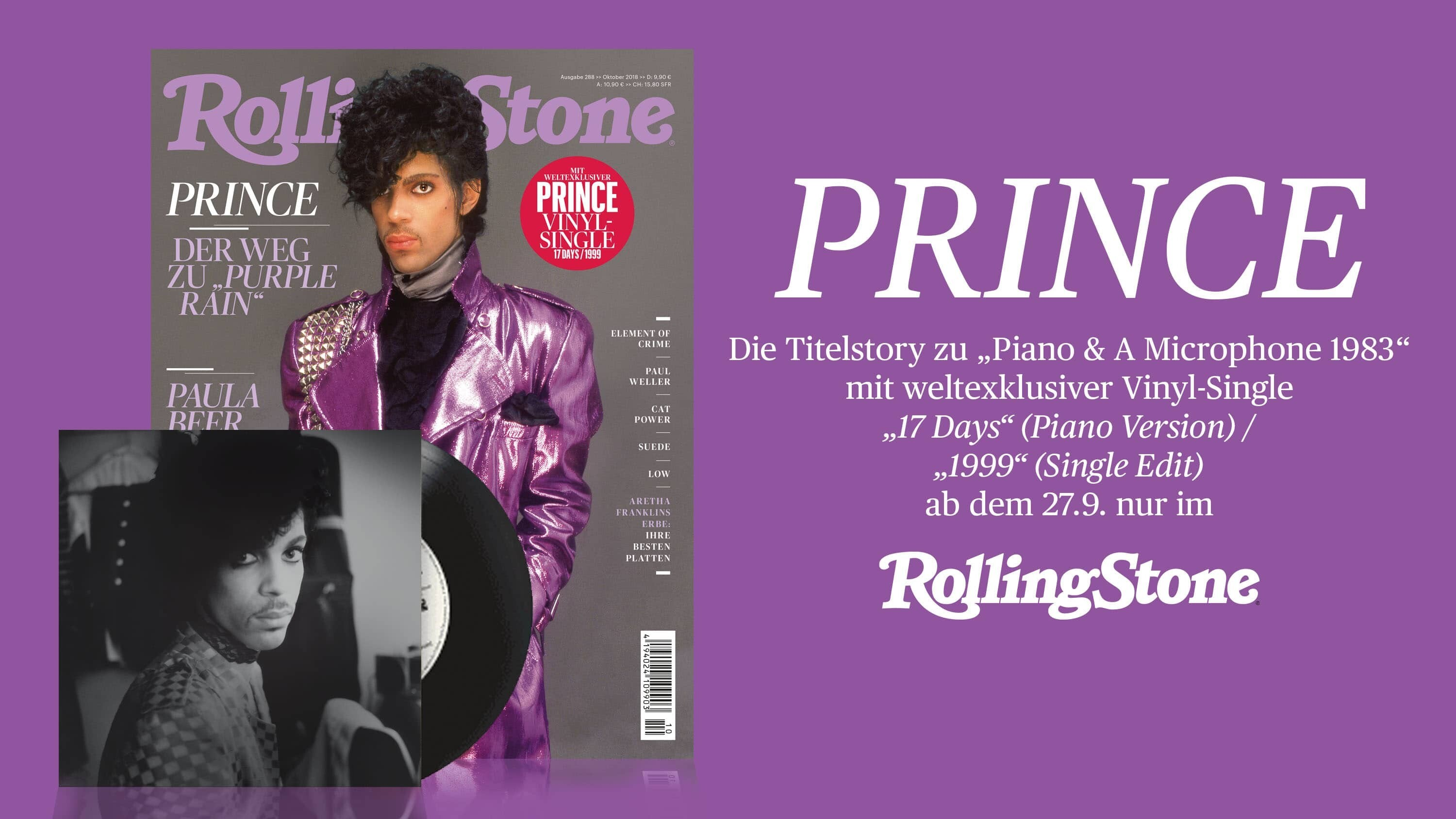 PRINCE 7-inch Single exklusiv im ROLLING STONE