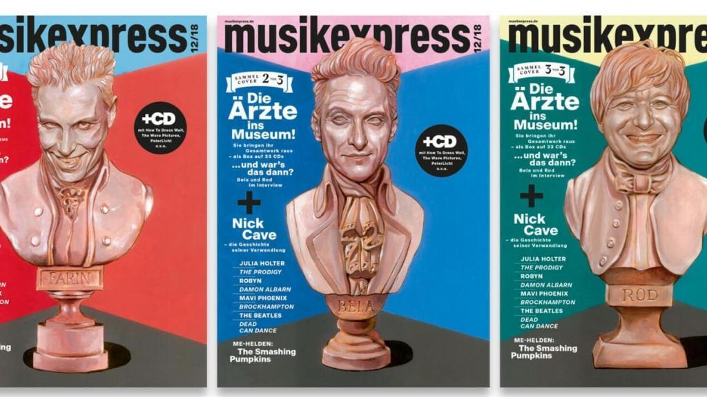 Bela, Farin und Rod im MUSIKEXPRESS 12 2018