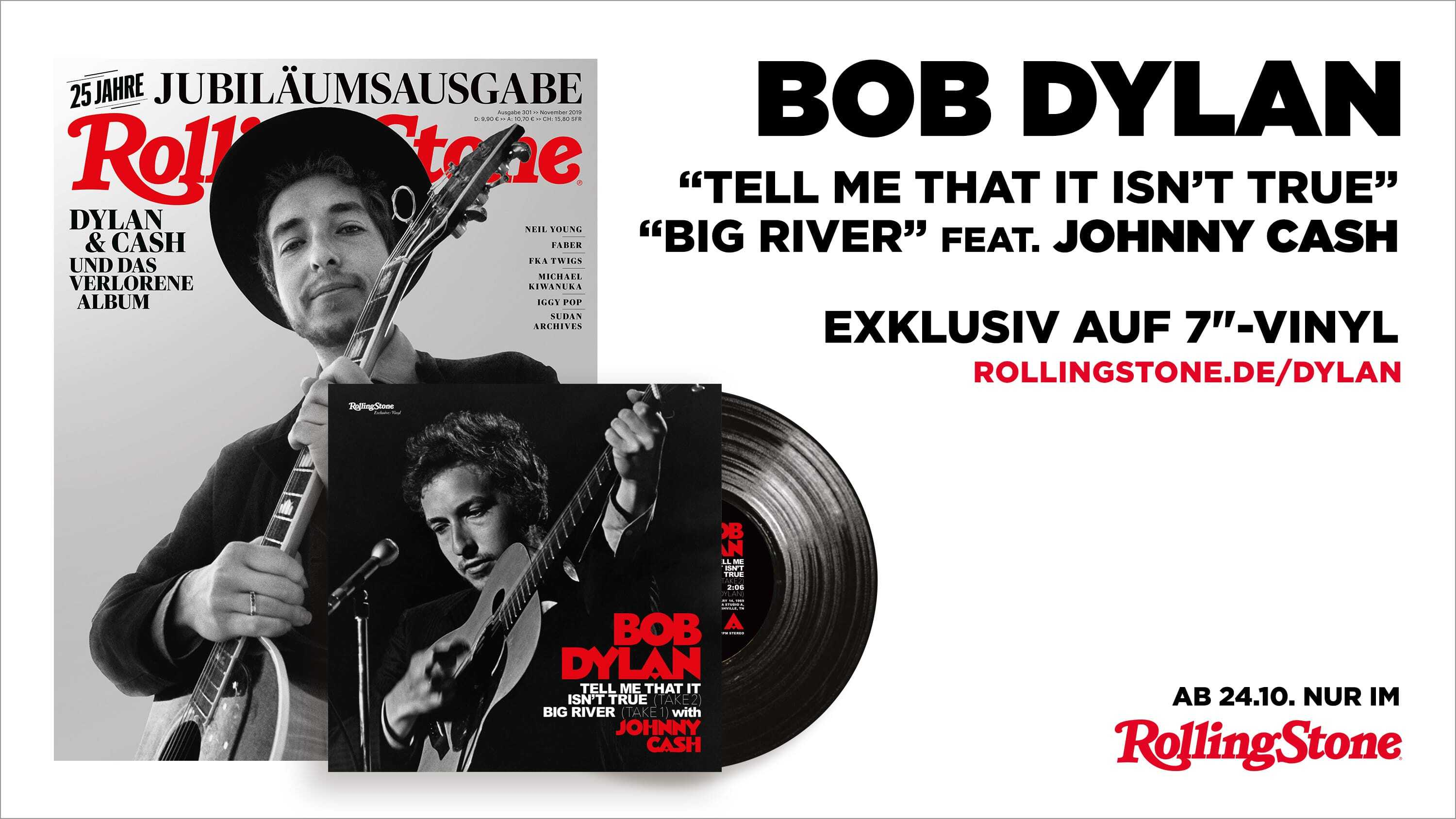Dylan & Cash 7-inch Single im ROLLING STONE
