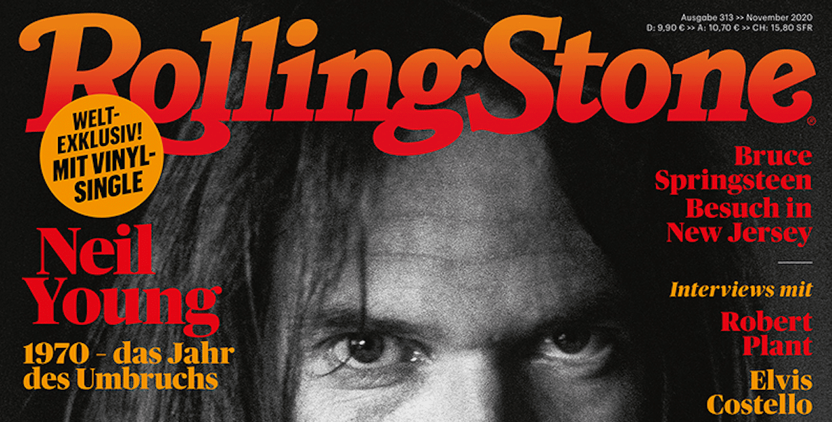 Neil Young Single (7-INCH-VINYL) im ROLLING-STONE 10/20